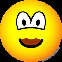 Chocolate mustache emoticon