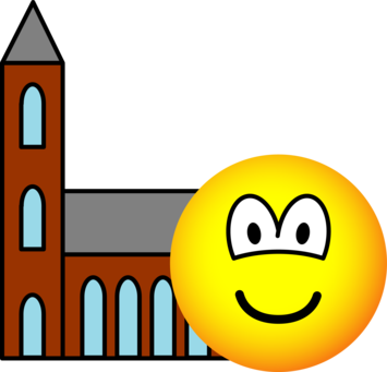 Church going emoticon