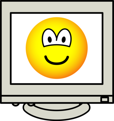 Computer screen emoticon