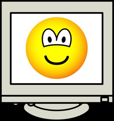 Computer screen emoticon