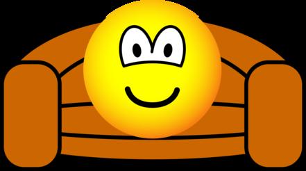 Couch potato emoticon