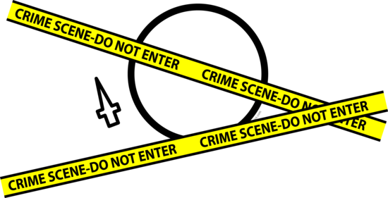 Crime scene emoticon