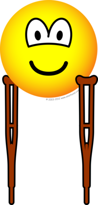 Crutches emoticon