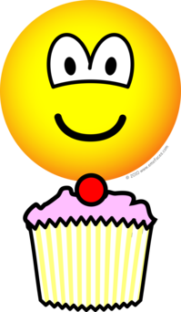 Cup cake emoticon