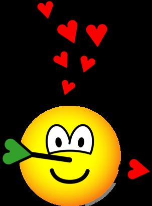 Cupids hit emoticon
