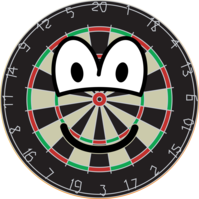 Dartboard emoticon