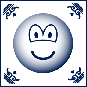 Delft blue emoticon