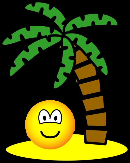 Desert island emoticon