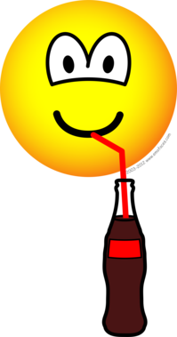 Drinking emoticon