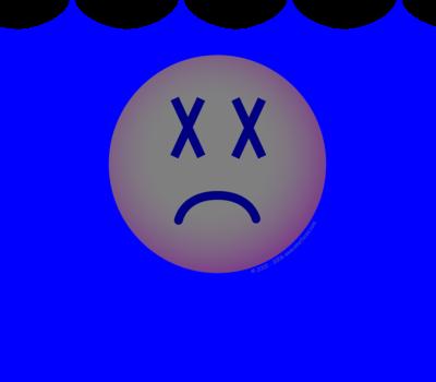 Drowned emoticon