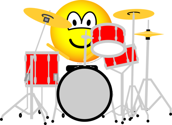 Drumming emoticon
