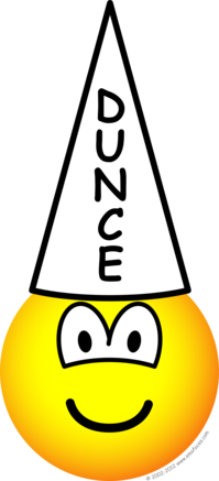 Dunce emoticon