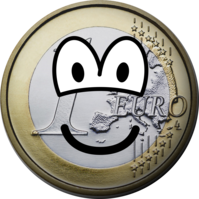 Euro coin emoticon