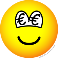 Euro eyed emoticon