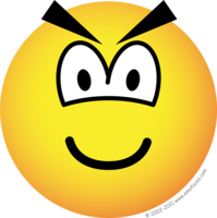 Evil emoticon