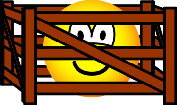 Fenced in emoticon