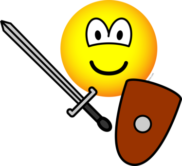 Sword fighting emoticon