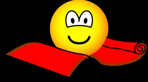 Flying carpet emoticon