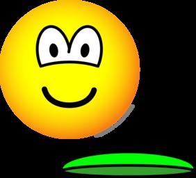 Frisbeeing emoticon