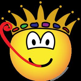Frog king emoticon
