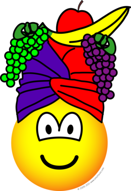 Fruit hat emoticon