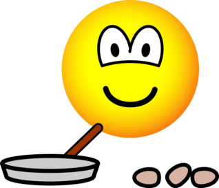 Frying emoticon