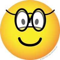 Emoticon with glasses