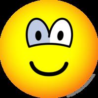 Glass eye emoticon