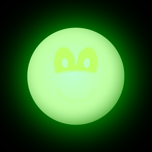 Glow in the dark emoticon