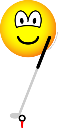 Golfing emoticon