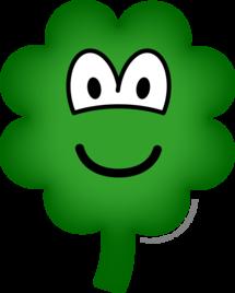 Good luck clover emoticon
