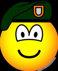 Green beret emoticon