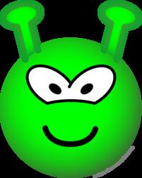 Green alien emoticon