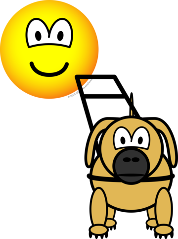 Guide dog emoticon
