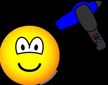 Hair drying emoticon