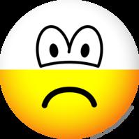Half empty emoticon