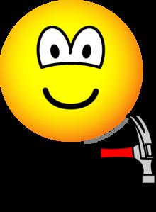 Hammer and nail emoticon