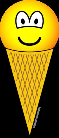 Ice cream emoticon