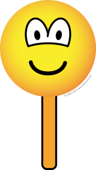 Ice cream on a stick emoticon