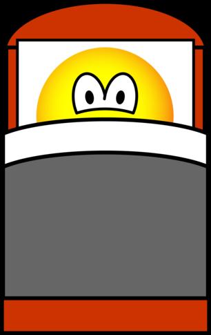 In bed emoticon