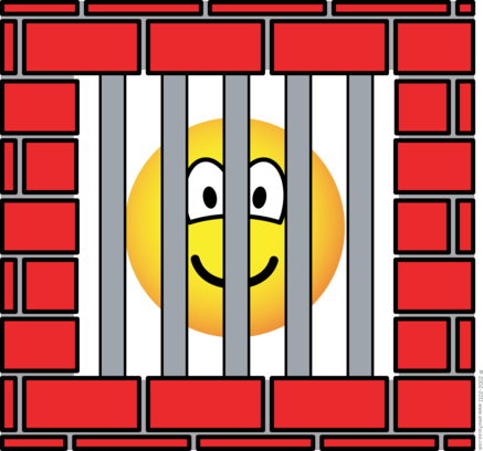 Jailed emoticon