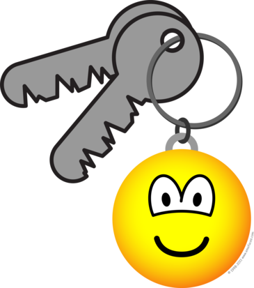 Key ring chain emoticon