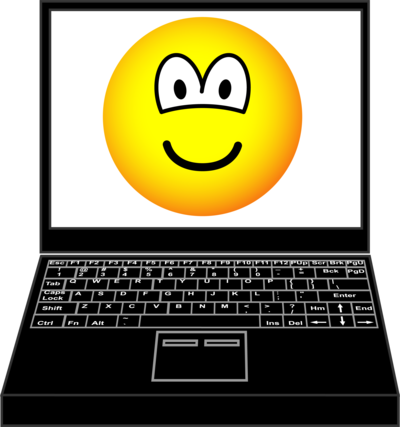 Laptop emoticon