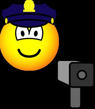 Lazer gun cop emoticon