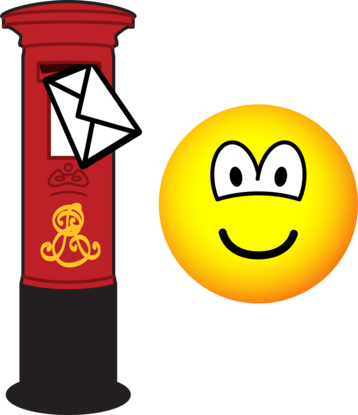 Letter posting emoticon
