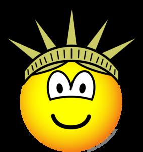 Emoticon of liberty