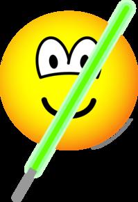 Light saber emoticon