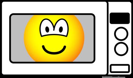 Microwaved emoticon