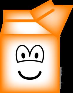 Milk carton emoticon