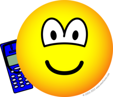 Mobile phoning emoticon